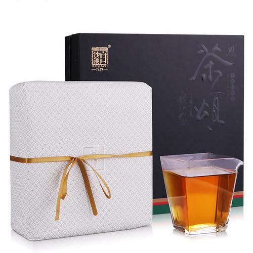 BAISHAXI Brand Cha Song Anhua Golden Flowers Fucha Dark Tea 800g Brick