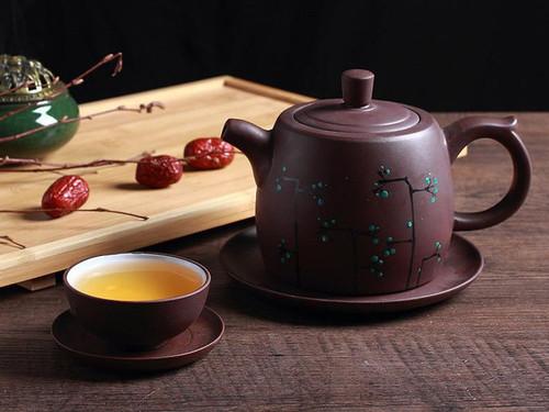 Yixing Zisha Clay Tea Set Teapot Teacup and Trays 500ml