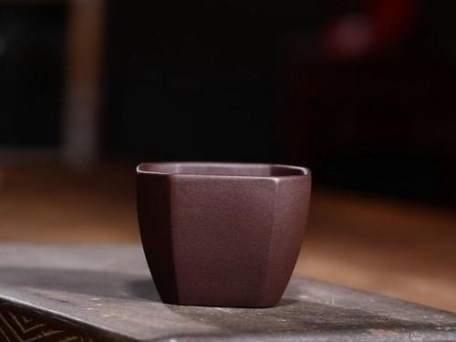 Handmade Yixing Zisha Clay Teacup Fangbei 90ml