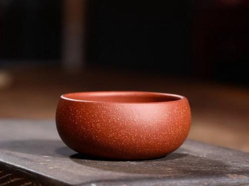 Handmade Yixing Zisha Clay Teacup Longxue 60ml