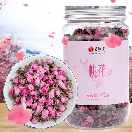 EFUTON Brand Dried Peach Blossom Flower Bud Tao Hua Cha Natural Floral Tea 45g