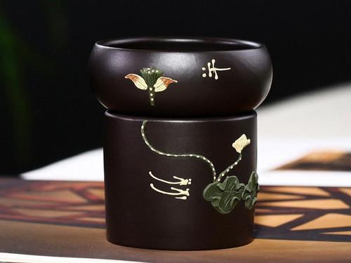 Handmade Yixing Zisha Clay Loose Tea Strainer Heiliang