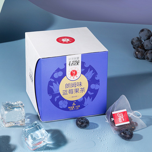 EFUTON Brand Rum Taste Blueberry Fruit Tea Mixed Fuits Loose Herbal Tea Tea Bag 45g