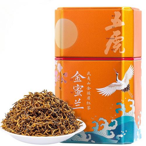 Wu Hu Brand Jin Mi Lan Jin Jun Mei Golden Eyebrow Wuyi Black Tea 150g