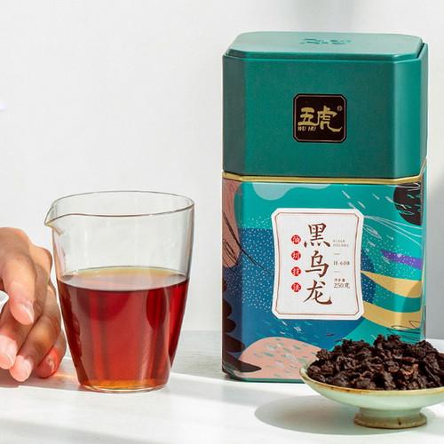 Wu Hu Brand H600 Black Oolong Charcoal Roasted Slimming Tea Reducing Weight Fat Burning 250g