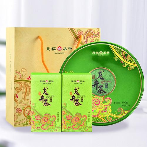 TenFu's TEA Brand Big Buddha Ming Qian 1st Grade Long Jing Dragon Well Green Tea 75g*2