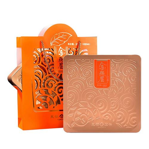 TenFu's TEA Brand Premium Grade Jin Jun Mei Golden Eyebrow Wuyi Black Tea 200g