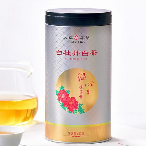 TenFu's TEA Brand Wen Xin Premium Grade White Peony Fuding White Tea Loose 80g