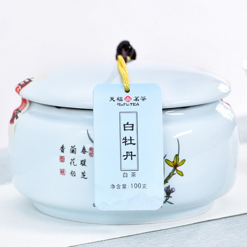 TenFu's TEA Brand Zhen Cang White Peony Fuding White Tea Loose 100g