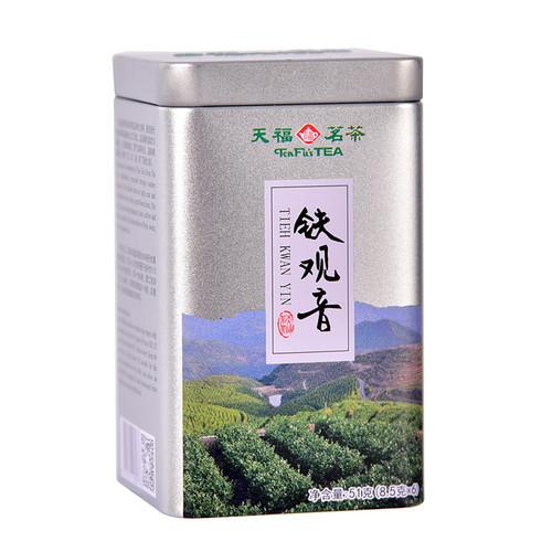 TenFu's TEA Brand Small Square Can Tie Guan Yin Chinese Oolong Tea 51g