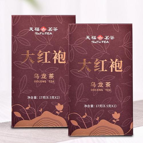 TenFu's TEA Brand Premium Grade Da Hong Pao Fujian Wuyi Big Red Robe Oolng Tea 17g*2