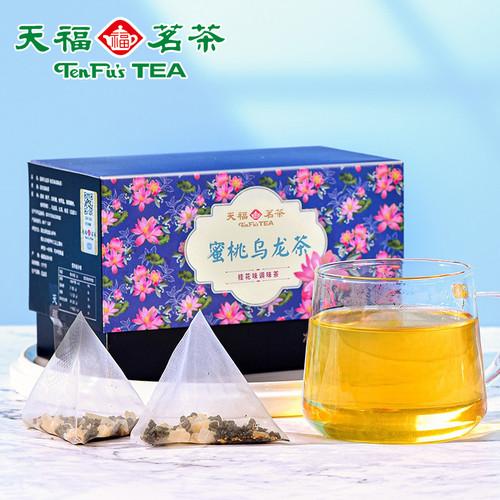 TenFu's TEA Brand White Peach Oolong Fresh Oolong Tea with Real Dried Peach Chunks Tea Bag 60g