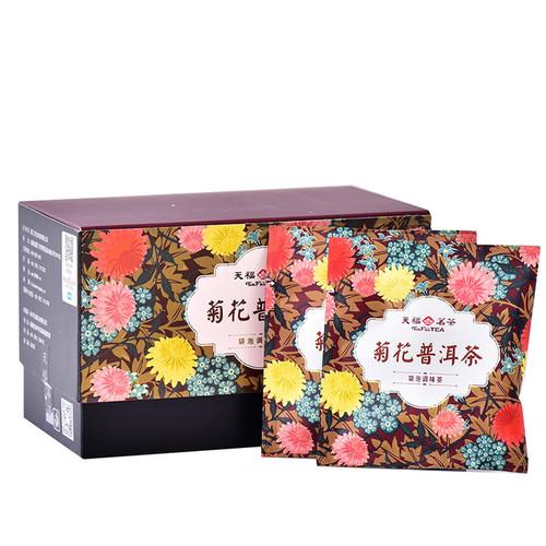 TenFu's TEA Brand Chrysanthemum Pu-erh Eight Treasures Ba Bao Cha Asssorted Herbs & Fruits Chinese Bowl Tea Tea Bag 36g