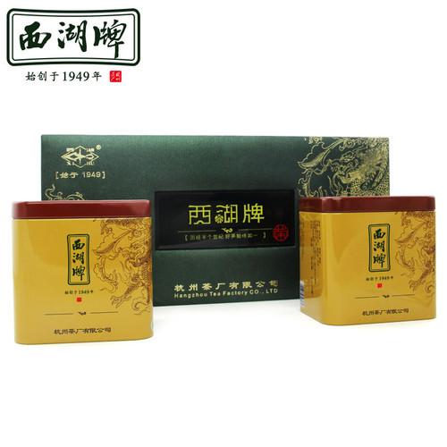 XI HU Brand Ming Qian Premium Grade Long Jing Dragon Well Green Tea 100g*2