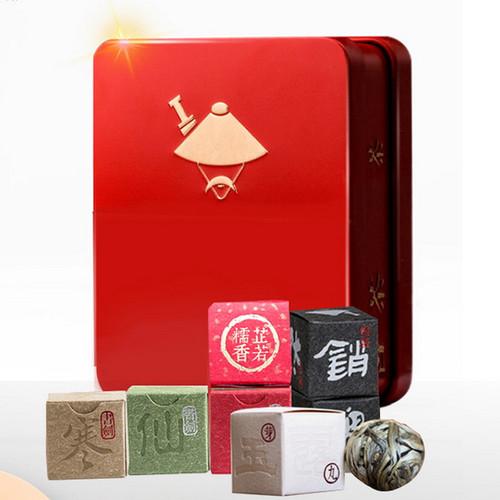 KUNGFU PU'ER Brand Xiao Yao Dan 6 Flavors Assortment Tea Pearls 42g