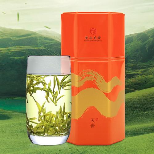 HUI LIU Brand Ming Qian Premium Grade Huang Shan Mao Feng Yellow Mountain Green Tea 70g