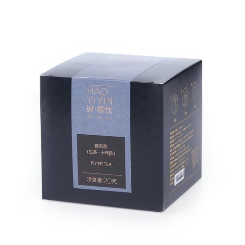 MENGKU Brand Hao Yi Yin Ten Years Chen Pu-erh Tea Tea Bag 2020 20g Raw