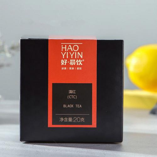 MENGKU Brand Hao Yi Yin CTC Dian Hong Yunnan Black Tea Tea Bag 20g