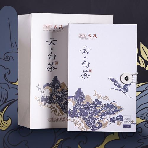 MENGKU Brand Cloud White Tea Yunnan Broad Leaf White Tea 100g