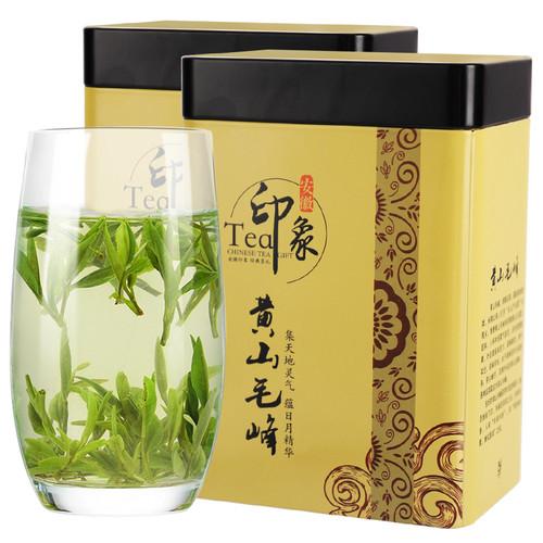 H. GENERAL Brand Impression Yu Qian 1st Grade Huang Shan Mao Feng Yellow Mountain Green Tea 250g*2