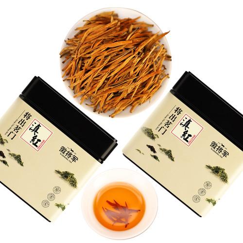 H. GENERAL Brand Dian Hong Jin Zhen Dian Hong Yunnan Black Tea 125g*2