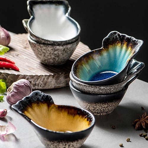Japanese Style Fish-shaped Ceramic Saucer 100ml