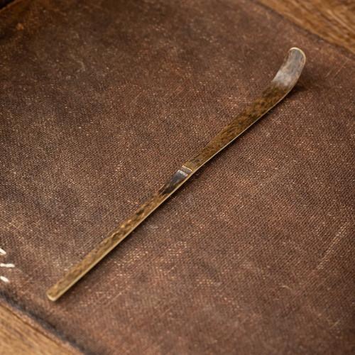 Dark Spotted Bamboo Chashaku Matcha Tea Scoop