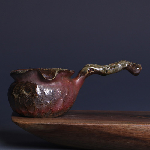 Chai Shao Side Handle 30-35 Handmade Wood-Fired Ceremic Fair Cup Of Tea Serving Pitcher Creamer