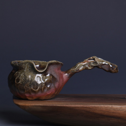 Chai Shao Side Handle Handmade Wood-Fired Ceremic Fair Cup Of Tea Serving Pitcher Creamer