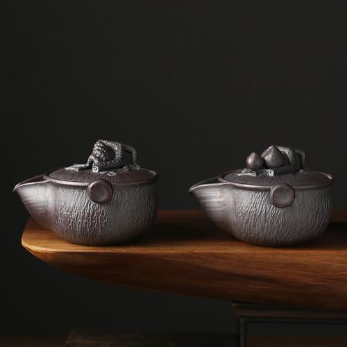 Tiao Dao Bao Ping Ceramic Chinese Kung Fu Tea Teapot 180ml