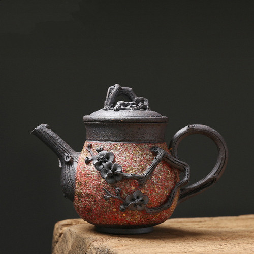 Yan Kuang Plum Bossom Ceramic Chinese Kung Fu Tea Teapot 200ml