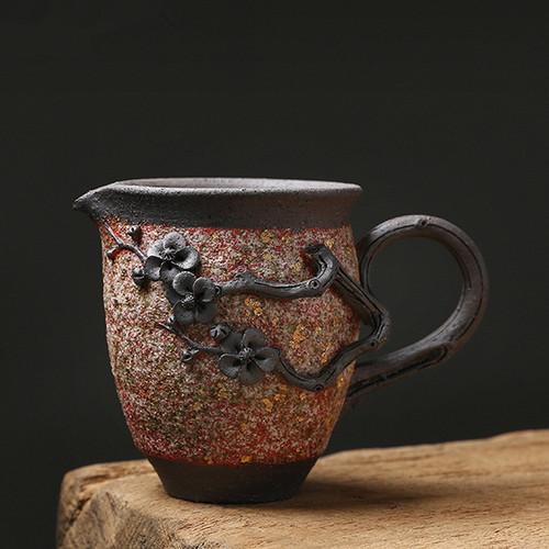 Yan Kuang Plum Bossom Ceramic Fair Cup Of Tea Serving Pitcher Creamer 230ml