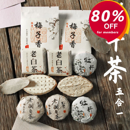 Premium Aged China White Tea Assortment 60g (-80% for orders above $50 with membership)