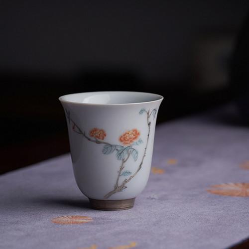 Twelve Flower Gods Porcelain Gongfu Tea Tasting Teacup 45ml