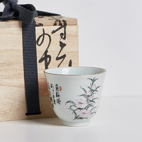 Yi Bu Hand-painted Porcelain Gongfu Tea Tasting Teacup