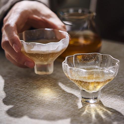 Bubble Glass Gongfu Tea Tasting Teacup 60ml