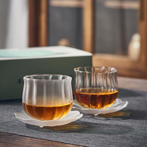 Lotus Glass Teacup 120ml