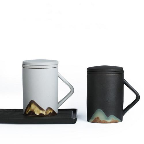 Zhi Yin Ceramic Loose Leaf Tea Mug with Infuser 300ml