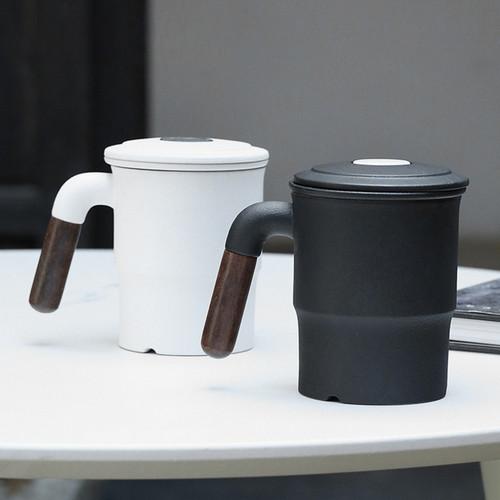 Jian Yue Ceramic Loose Leaf Tea Mug with Infuser