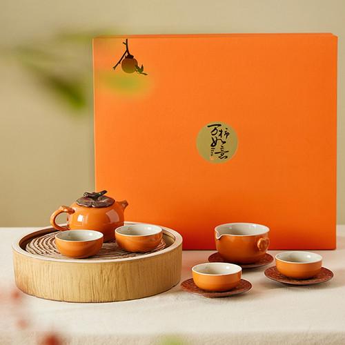 Shi Shi Ru Yi Ceramic Kungfu Tea Teapot And Teacup Set