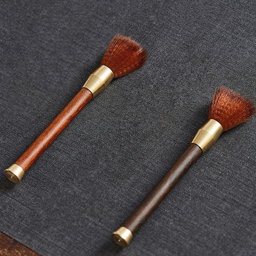 Wood Copper Brush for Gongfu Tea Ceremony Teapot Table Cleaning