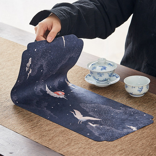 Water Proof Suede Placemat for Gongfu Tea Ceremony