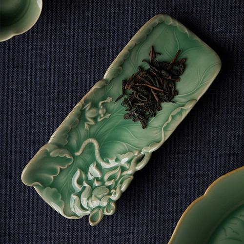 Zen Celadon Cha He Tea Presentation Vessel