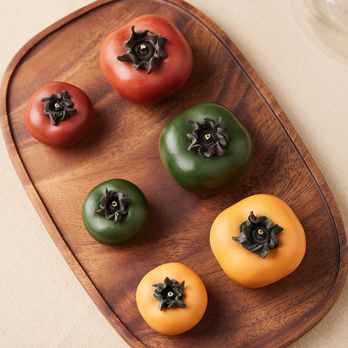 Persimmon Yixing Clay Tea Pet Table Decoration Ornament