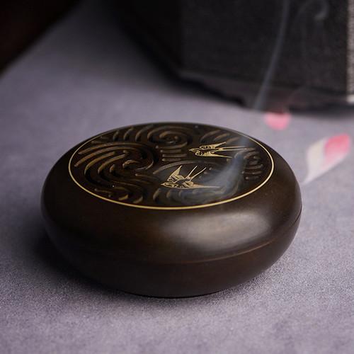 Ni Nan Shuang Yan Copper Incense Burner