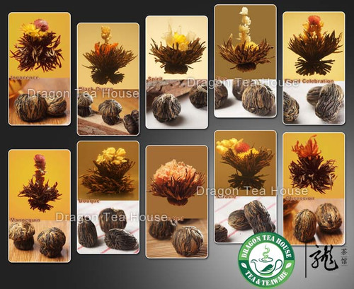 30 Blooms Assorted Black Blooming Tea