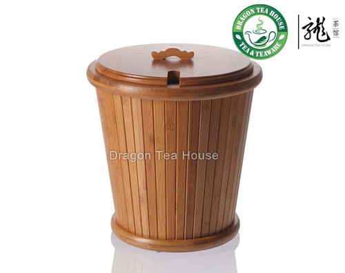 Chinese Gongfu Tea Waste Water Bamboo Bucket Container