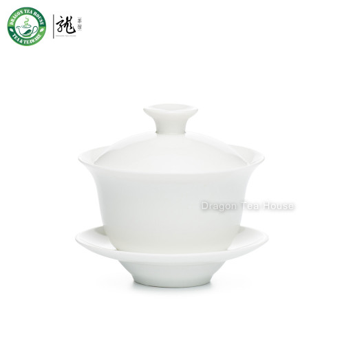 Zhen Chang Shun White Ceramic Gaiwan 100ml 3.4 fl oz