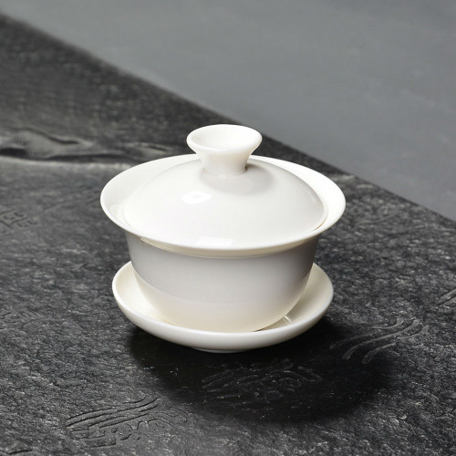 Mini White Gongfu Tea Porcelain Gaiwan 70ml 2.37 fl oz