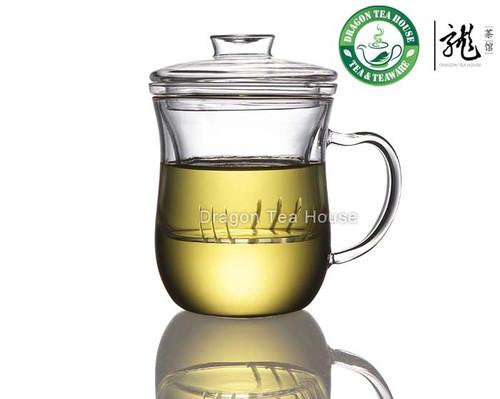 Clear Glass Mug With Lid & Infuser 300ml 10oz B-361